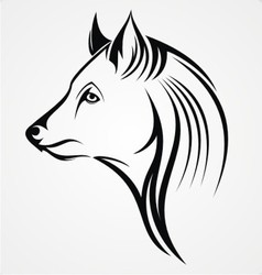 Tribal Wolf vector image vector image