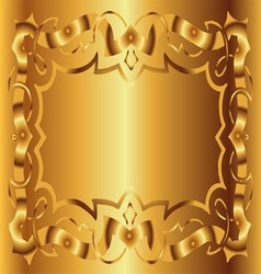 Vintage royal background victorian gold floral lux vector