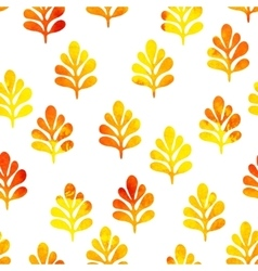 Watercolor seamless pattern with cute leaves vector image