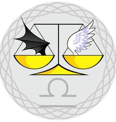 Zodiac signs libra vector