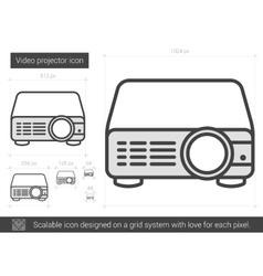 Video projector line icon vector