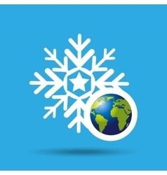 Globe earth weather meteorology snow vector