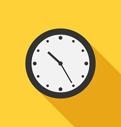 Flat style clock icon vector