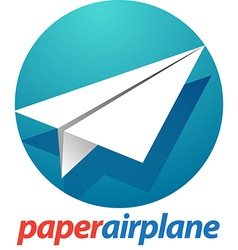 Peper airplane vector