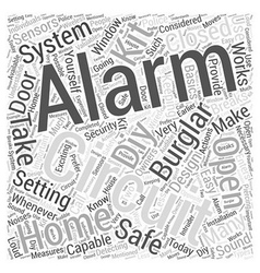 Diy burglar alarm kit word cloud concept vector