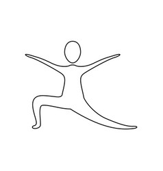 Figure person practicing dancing vector