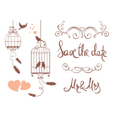 Set design elements for wedding vector