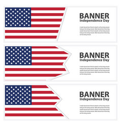 United states of american flag banners collection vector