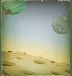 scifi grunge alien planet background vector image