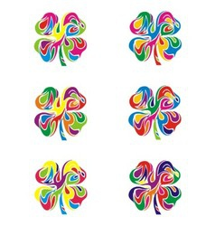 Colorfull Abstract Flower vector image