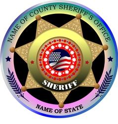 al 0217 sheriff badge vector image