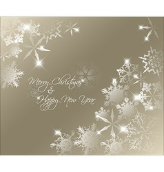 golden abstract Christmas background vector image