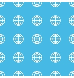 Globe straight pattern vector