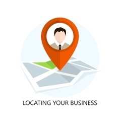 Location icon locating your business vector