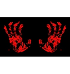 Hands Bloody vector image