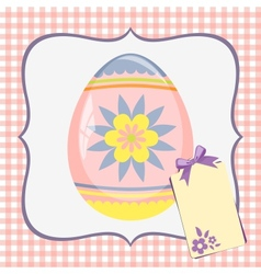 Template for spring easter postcard vector