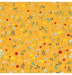 Blossoming field orange seamless pattern vector