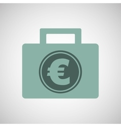Euro finance bag vector