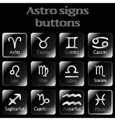 Astro sign buttons vector