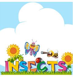 background design with many insects vector image