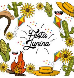 Brazilian things to celebrate festa junina vector
