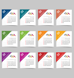 calendar for 2018 set two vector image