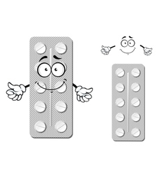 Cartoon blister pack of pills vector
