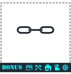 Chain icon flat vector