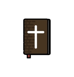Christianity flat icon vector image