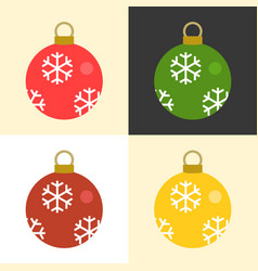 christmas balls set collection vector image vector image