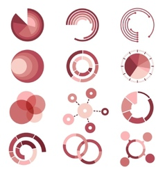 Circle diagrams templates collection for vector image vector image