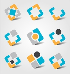Colorful business icon collection vector image