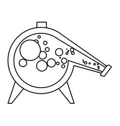 Distillation flask chemistry vector
