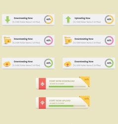 download and upload buttons set vector image vector image