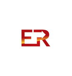 er letter logo vector image vector image