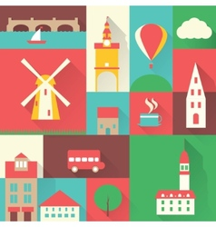 Europe city set vector image vector image