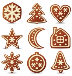 gingerbread cookies vector image