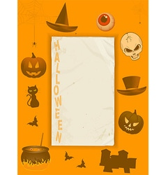Halloween grunge paper and frame vector