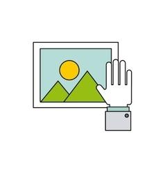 hand social media icon vector image