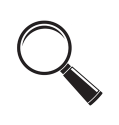 Magnifier glass icon isolated on white background vector image