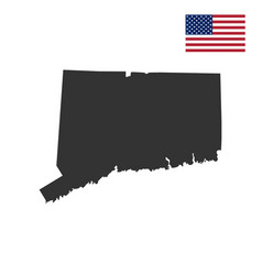 map of the us state of connecticut vector image vector image