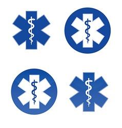 Medical star symbols vector image