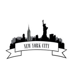 New york usa skyline american city travel landmark vector