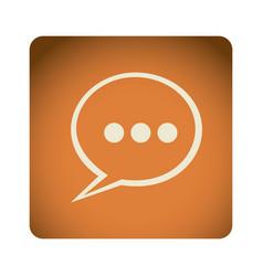 Orange emblem chat bubble icon vector