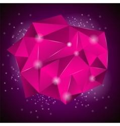 Pink Polygonal Stone vector image vector image
