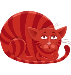 red cat character cartoon vector image vector image