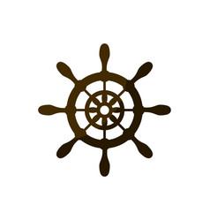 Rudder wheel icon vector