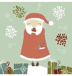 Santa claus laughing vector
