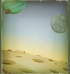 Scifi grunge alien planet background vector