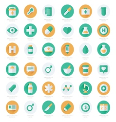 Set of flat medical icons vector